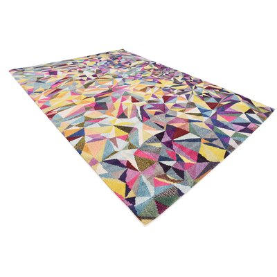 Aquarius Yellow/Blue Area Rug Rug Size: Rectangle 7 x 10