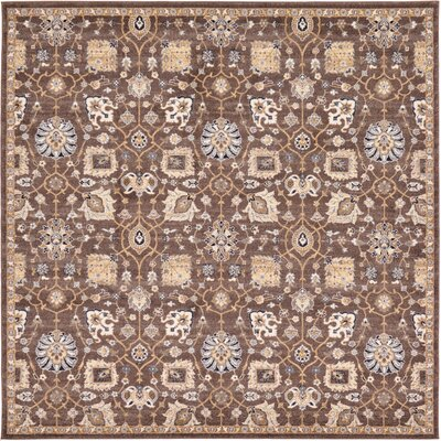 Peter Tradition Brown Area Rug Rug Size: Square 84 x 84