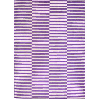 Braxton Purple Area Rug Rug Size: 7 x 10