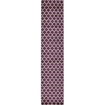 Finch Purple Area Rug Rug Size: Runner 27 x 13