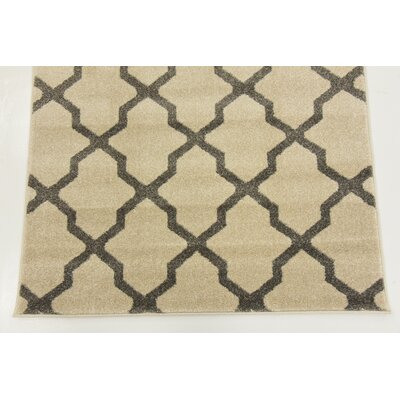 Chelsea Ivory Geometric Area Rug Rug Size: Rectangle 33 x 53