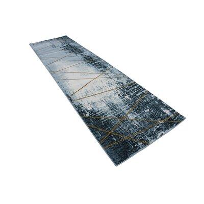 Brayden Dark Blue Area Rug Rug Size: Runner 3 x 10