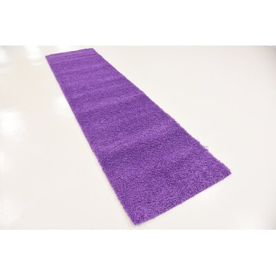Breton Purple Area Rug Rug Size: Runner 27 x 10
