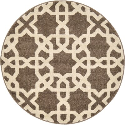Molly Light Brown Area Rug Rug Size: 3 x 3