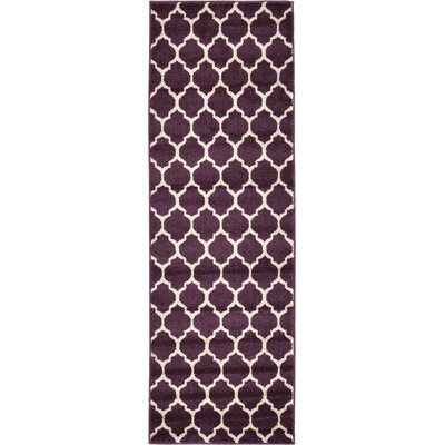 Kellie Purple Area Rug Rug Size: Runner 2 x 6