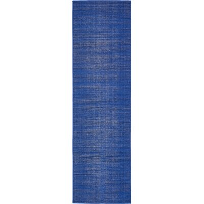 Risley Navy Blue Area Rug Rug Size: Runner 29 x 91
