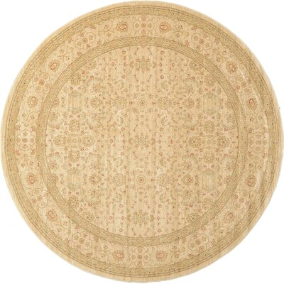 Willow Cream/Beige Area Rug Rug Size: Round 8