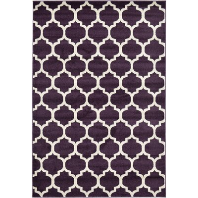 Finch Purple Area Rug Rug Size: 6 x 9