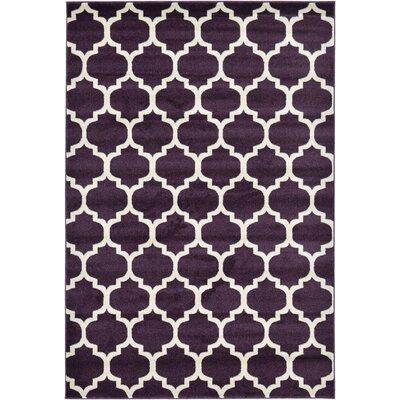 Kellie Purple Area Rug Rug Size: 6 x 9