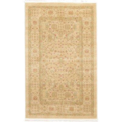 Willow Cream/Beige Area Rug Rug Size: 33 x 53