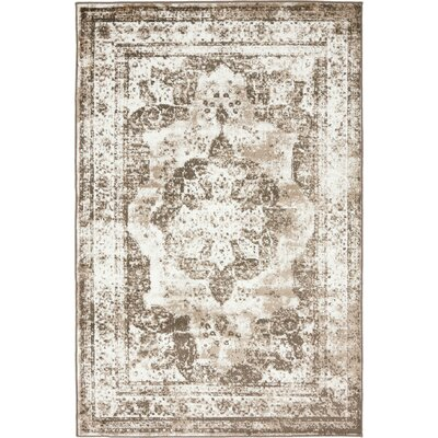 Brandt Light Brown Area Rug Rug Size: 4 x 6