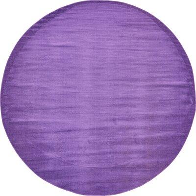 Risley Violet Area Rug Rug Size: Round 8