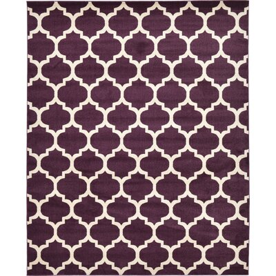 Kellie Purple Area Rug Rug Size: 8 x 10