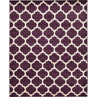 Finch Purple Area Rug Rug Size: 8 x 10