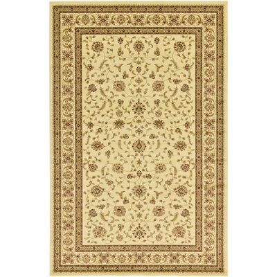Niles Cream/Brown Area Rug Rug Size: 106 x 165
