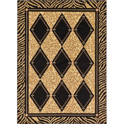 Jaina Light Brown Geometric Area Rug Rug Size: Rectangle 7 x 10