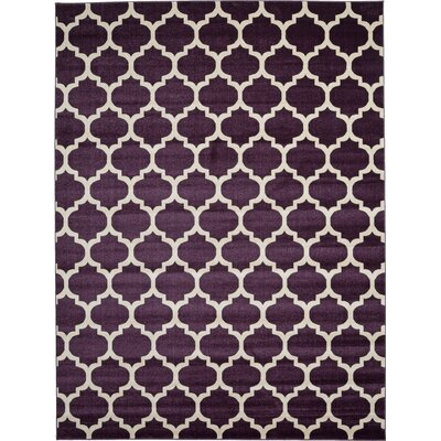 Kellie Purple Area Rug Rug Size: 9 x 12