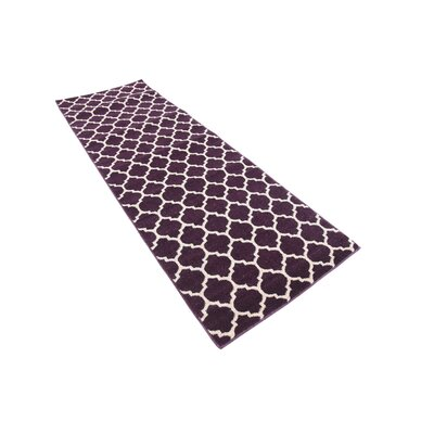 Chelsea Purple Area Rug Rug Size: Runner 27 x 8