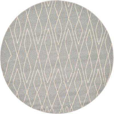 Doretha Gray Area Rug Rug Size: Round 8