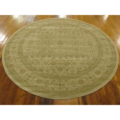 Willow Beige Area Rug Rug Size: Round 6