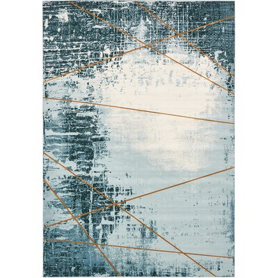 Brayden Dark Blue Area Rug Rug Size: Rectangle 7 x 10