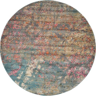 Cherry Street Gray Area Rug Rug Size: Round 6