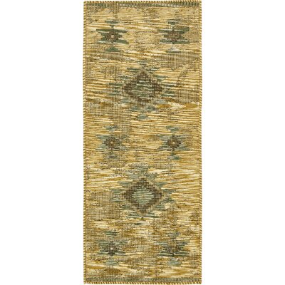 Jan Gold Area Rug Rug Size: Runner 29 x 67