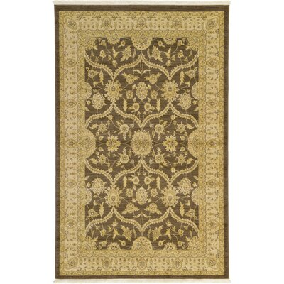 Britley Brown Area Rug Rug Size: Rectangle 5 x 8