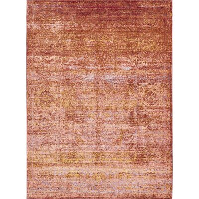 Browne Brown/Orange/Pink Area Rug Rug Size: Rectangle 3 x 10