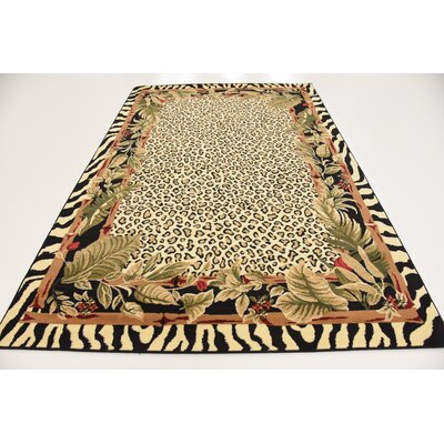 Leif Tan/Olive Area Rug Rug Size: 7 x 10