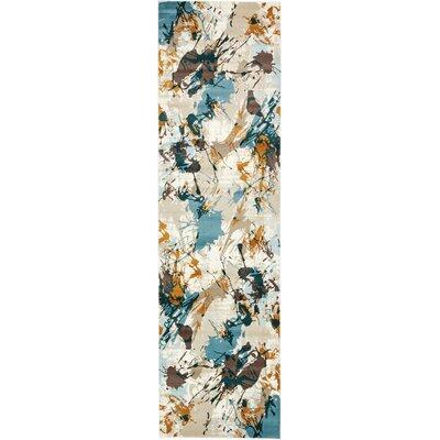Brayden Beige/Blue Area Rug Rug Size: Runner 3 x 10