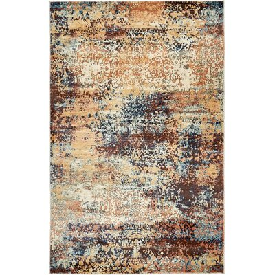 Jani Beige/Brown Abstract Area Rug Rug Size: Rectangle 9 x 12