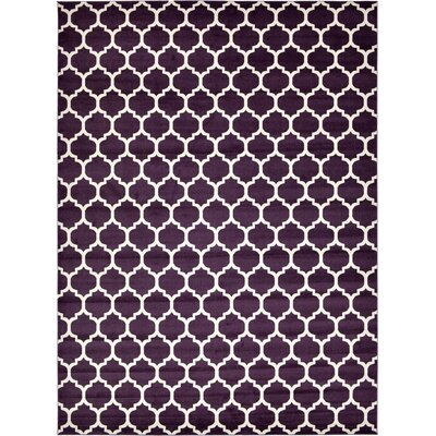 Finch Purple Area Rug Rug Size: 13 x 18