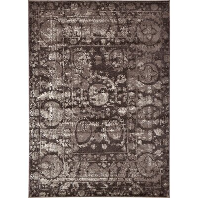 Kelaa Brown Area Rug Rug Size: Rectangle 7 x 10
