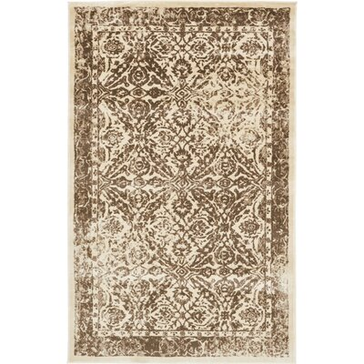 Jae Beige/Brown Area Rug Rug Size: 5 x 8