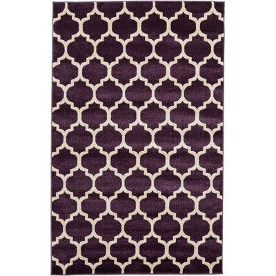 Finch Purple Area Rug Rug Size: 5 x 8