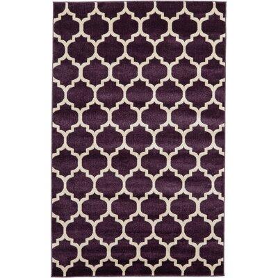 Moore Purple Area Rug Rug Size: Rectangle 5 x 8