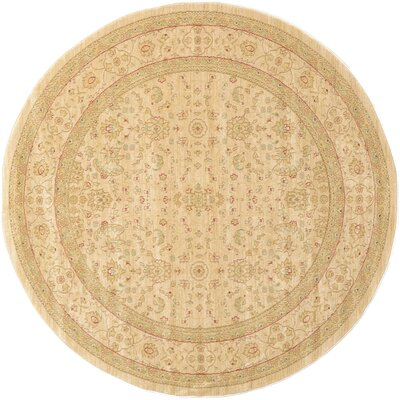 Willow Cream/Beige Area Rug Rug Size: Round 6