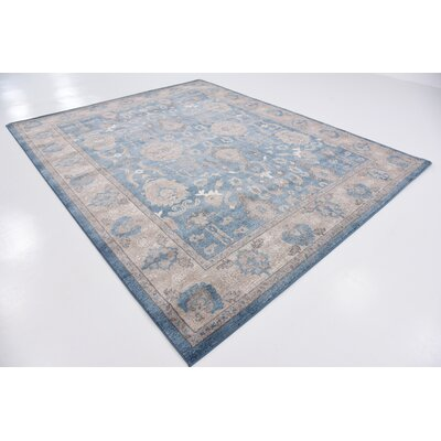 Basswood Light Blue Area Rug Rug Size: Rectangle 8 x 10