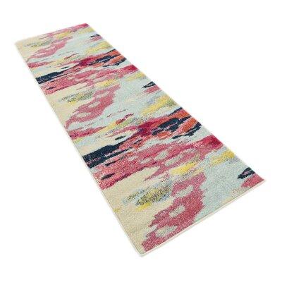Brister Pink Area Rug Rug Size: Runner 27 x 10