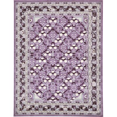 Irma Purple Area Rug Rug Size: 9 x 12