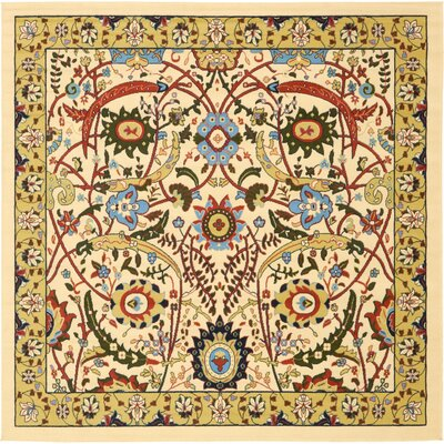 Anfa Cream Area Rug Rug Size: Square 8