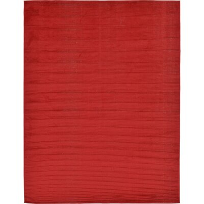 Risley Red Area Rug Rug Size: Rectangle 7 x 10
