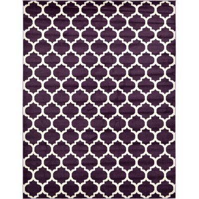 Moore Purple Area Rug Rug Size: Rectangle 10 x 13