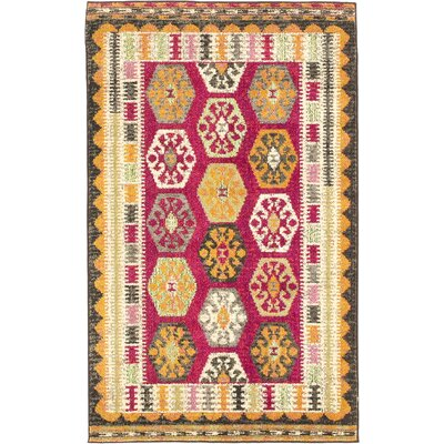 Phillips Red Area Rug Rug Size: 33 x 53