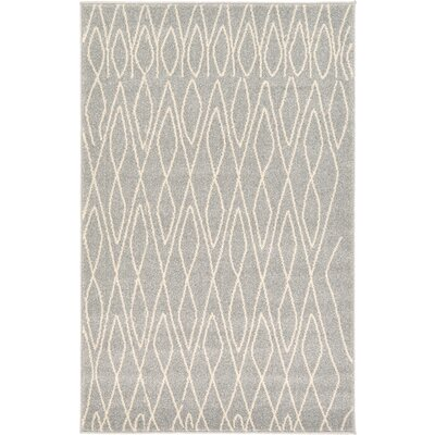Doretha Gray Area Rug Rug Size: Rectangle 33 x 53