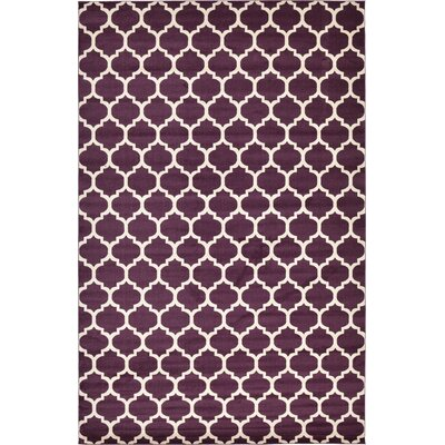 Moore Purple Area Rug Rug Size: Rectangle 106 x 165