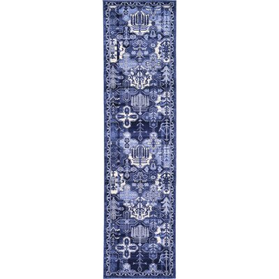 Irma Blue Area Rug Rug Size: Runner 27 x 10