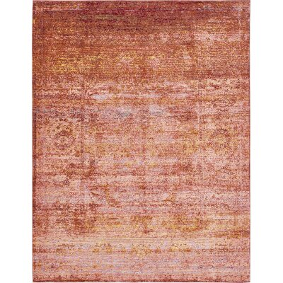 Browne Orange Area Rug Rug Size: 9 x 12