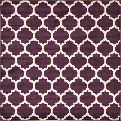 Finch Purple Area Rug Rug Size: Square 8